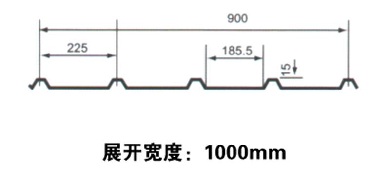 彩钢瓦900厂家